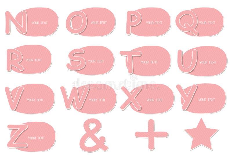 Stellen Sie Konsonant-ABC ein stock abbildung