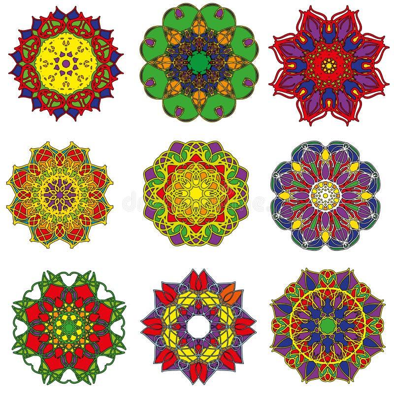 stellen Sie Mandala ein stockfotos