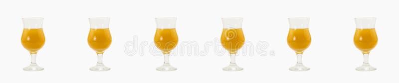Stellen Sie orange Cocktailalkoholmischungsalkoholbestandteil-Ginglasvl ein stockfotografie