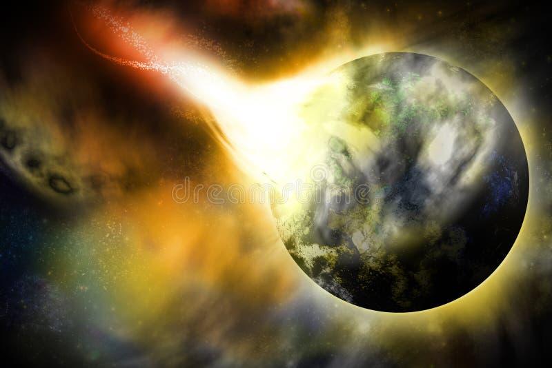 Stellen Sie sich Planeten vor stock abbildung