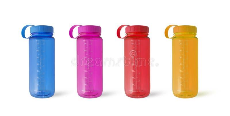 Stellen Sie Sportflaschenwasser ein lizenzfreie stockfotos