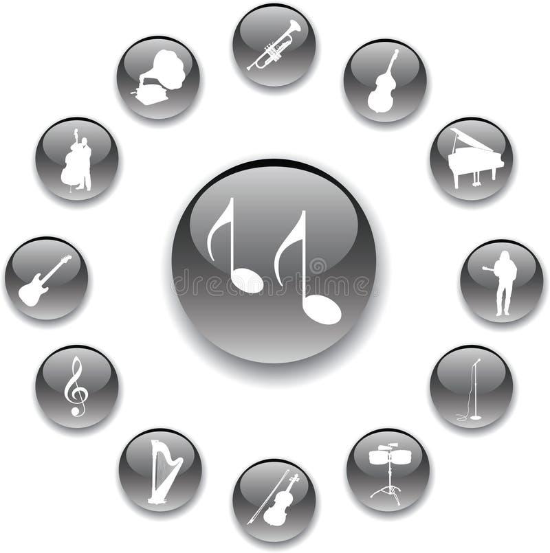 Stellen Sie Tasten - 95_A ein. Musik stock abbildung
