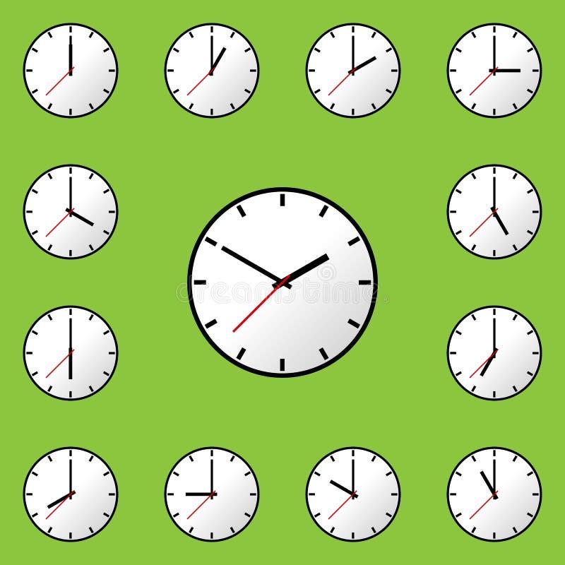 Download Stellen Sie Uhrikone Vektor-Illustrationsdesign EPS10 Ein Vektor Abbildung - Illustration von stichtag, auszug: 90234821