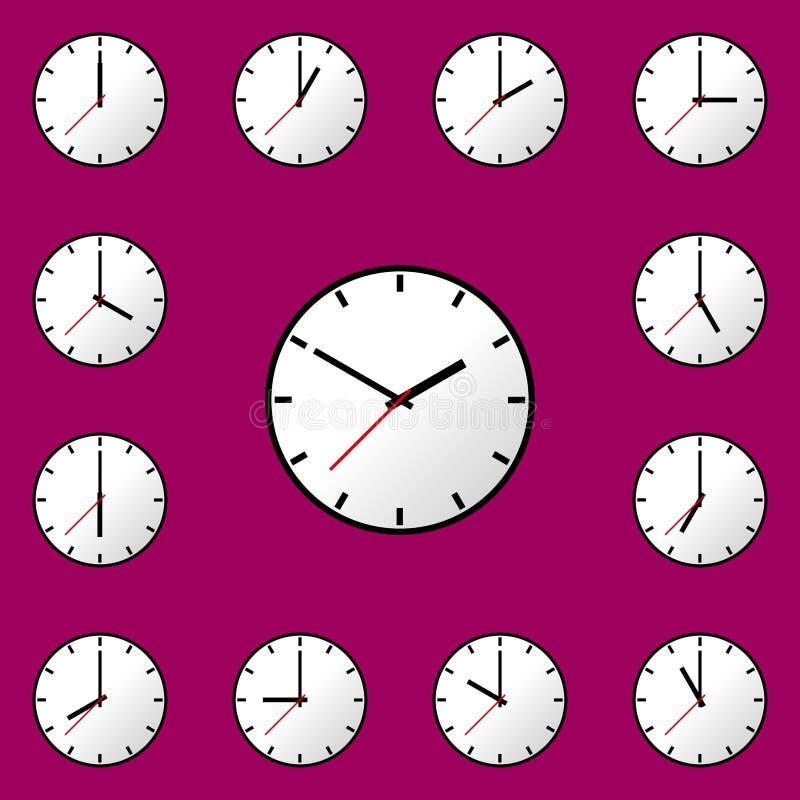 Download Stellen Sie Uhrikone Vektor-Illustrationsdesign EPS10 Ein Vektor Abbildung - Illustration von schwarzes, auslegung: 90235245