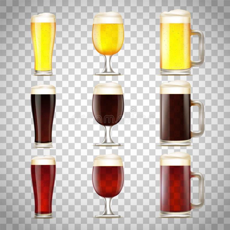 Stellen Sie vom Bier in einem Glas ein lizenzfreie abbildung