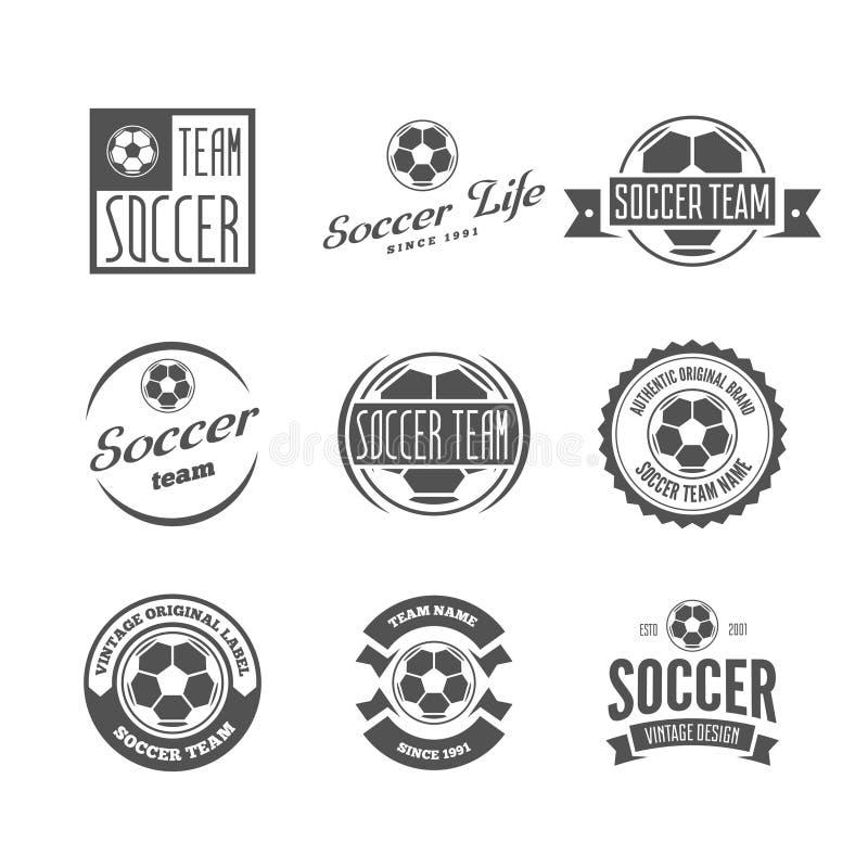 Satz Des Fussball Fussball Verein Logos Vektor Abbildung