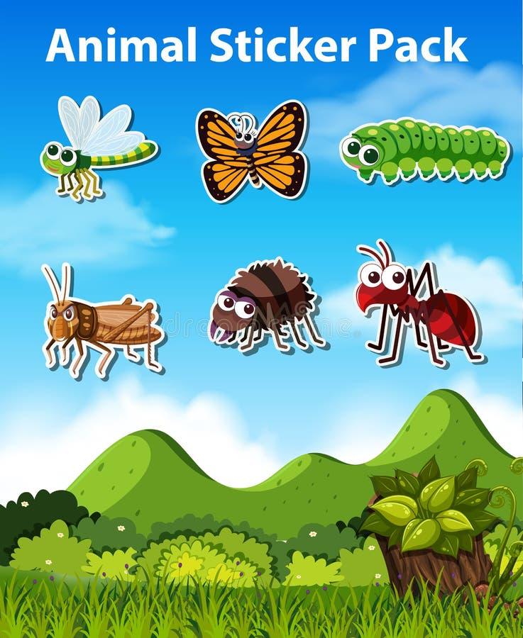 Stellen Sie vom Insektenaufkleber ein lizenzfreie abbildung