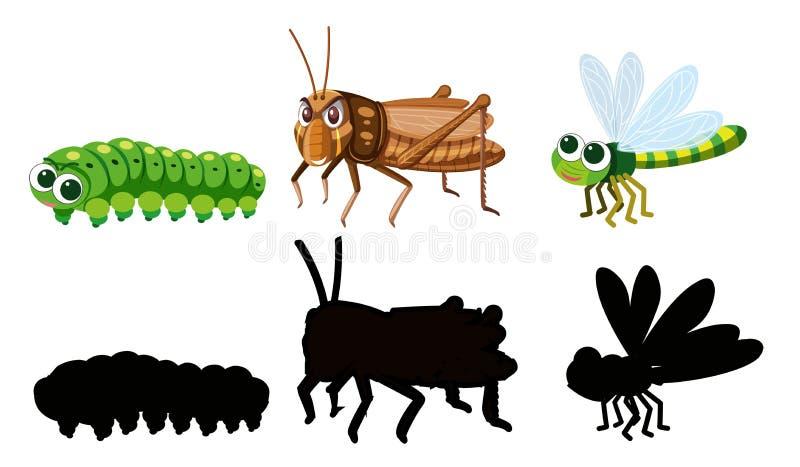 Stellen Sie vom Insektencharakter ein lizenzfreie abbildung