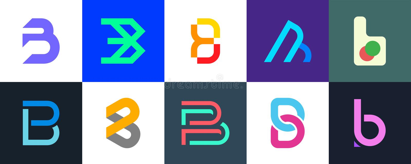 Stellen Sie vom Logo des Buchstaben B ein vektor abbildung