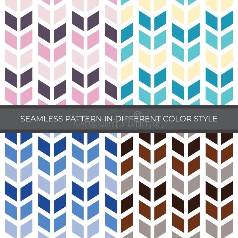 Stellen Sie vom Zusammenfassungs-Vektor-nahtlosen Muster mit der vier Farbart ein Farbe sind Rosa, grün, blau, Brown und verwende lizenzfreie abbildung