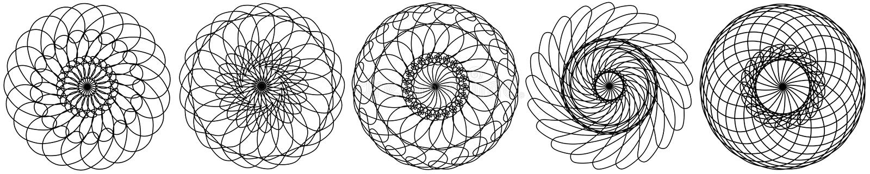 stellen Sie von den abstrakten Kreiselementen ein Dreamcatcher Astrologie, Geistigkeit, magisches Symbol Ethnisches Stammes- Elem vektor abbildung