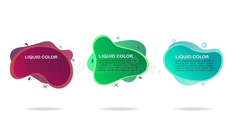 Stellen Sie von den dynamischen geometrischen flüssigen Formen ein Abstrakte Welle des modernen Entwurfs für Website, Social Medi lizenzfreie abbildung