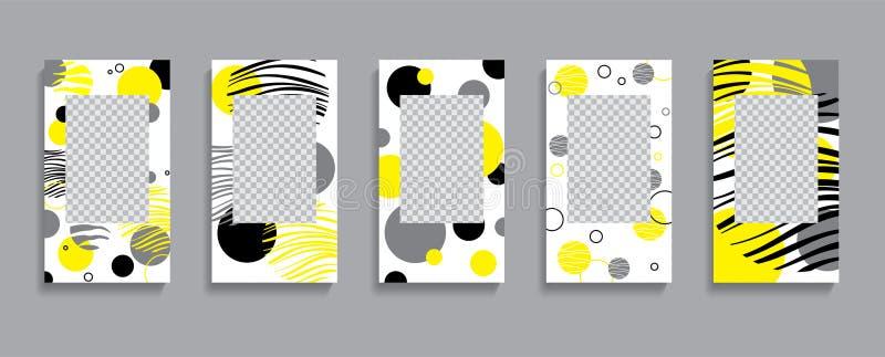 Stellen Sie von den Geschichtenschablonen, Hintergründe ein Moderner Modeabdeckungsentwurf für Social Media, Flieger lizenzfreie abbildung