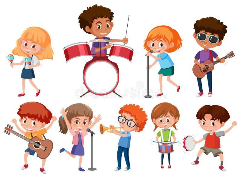 Stellen Sie von den Musikerkindern ein stock abbildung