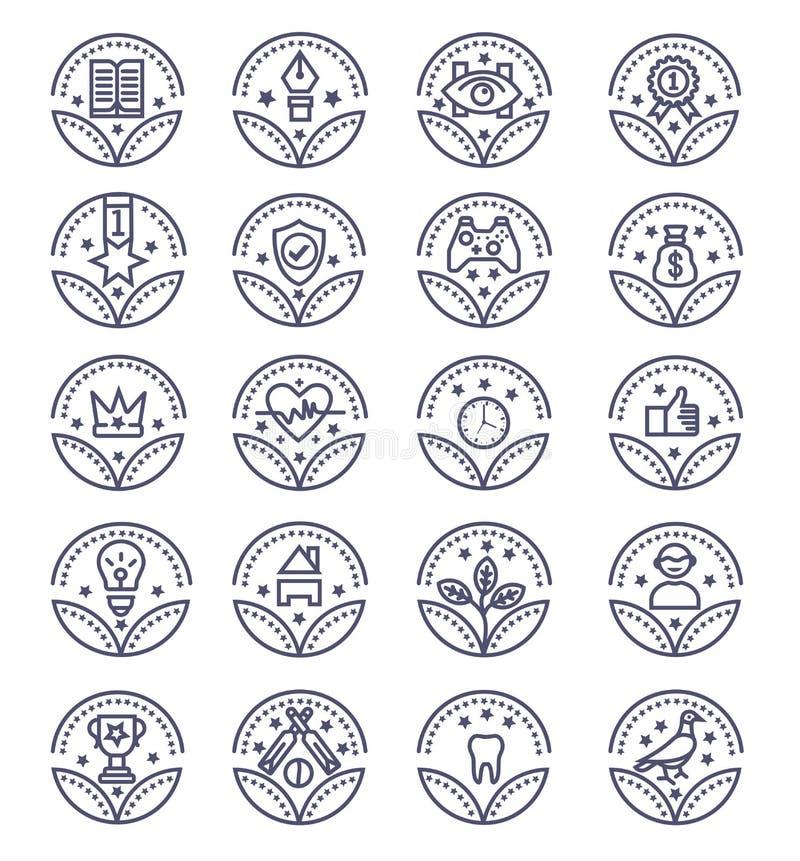 Stellen Sie von den Preis-Vektor-Ikonen - Vektorzeichen ein lizenzfreie abbildung