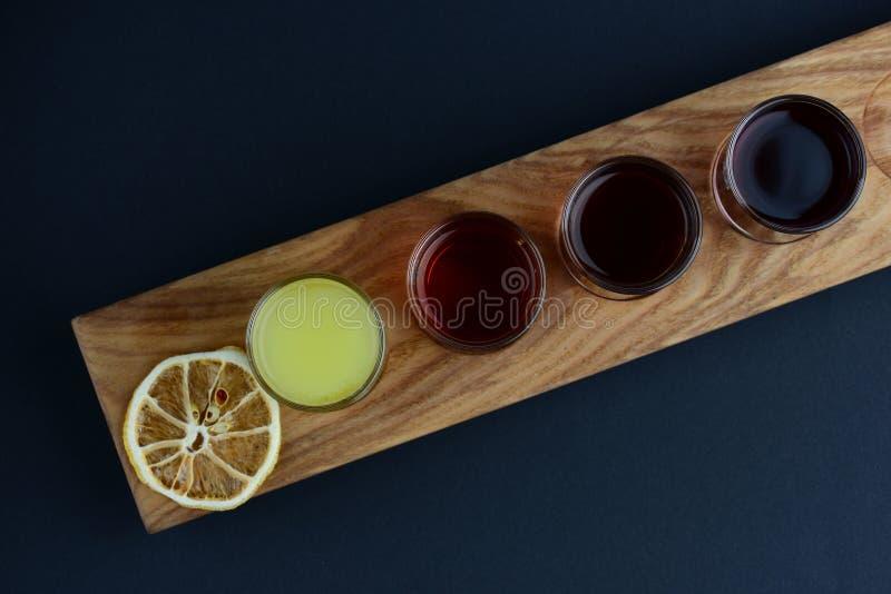 Stellen Sie von den Schüssen mit trockener Zitrone ein lizenzfreies stockfoto