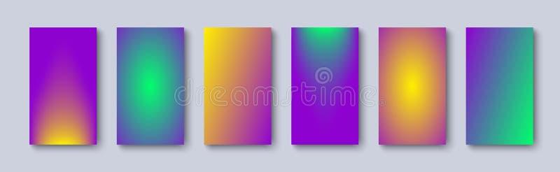 Stellen Sie von den weichen Farben der Steigungshintergründe ein Steigung mit Farbe zwei Moderner Hintergrund stock abbildung