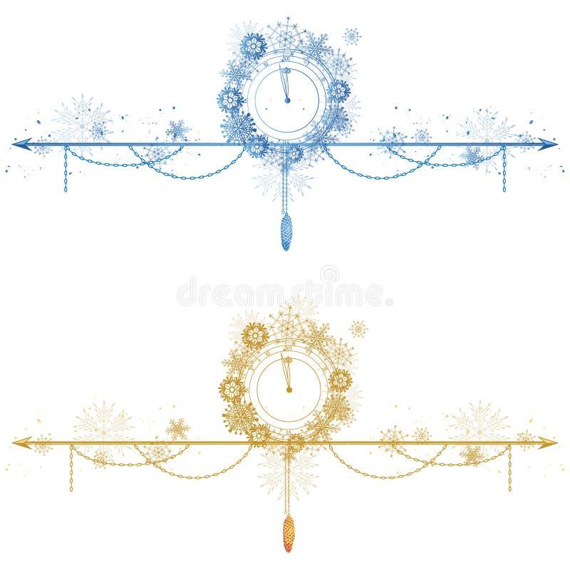 Stellen Sie von den Weihnachtsteilern ein vektor abbildung