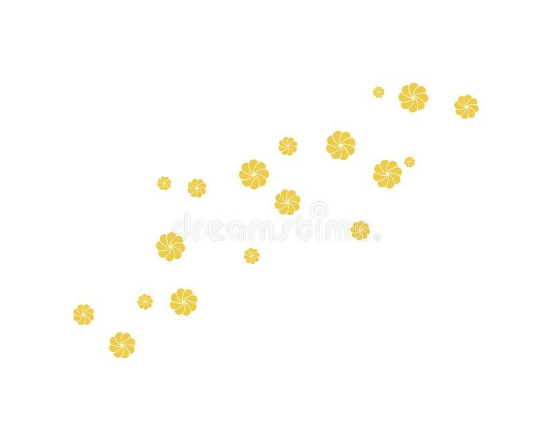stellen Sie von der abstrakten Blumenhintergrundschablonen-Vektorillustration ein lizenzfreie abbildung