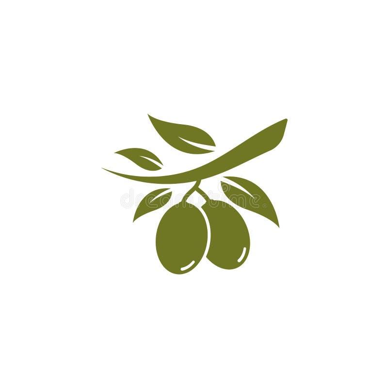 stellen Sie von der olivgrünen Logovektorillustration ein lizenzfreie abbildung