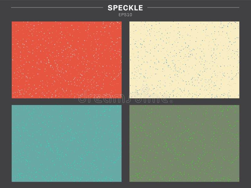 Stellen Sie von der Retro- Farbtonhintergrund-Tupfenmusterbeschaffenheit ein stock abbildung