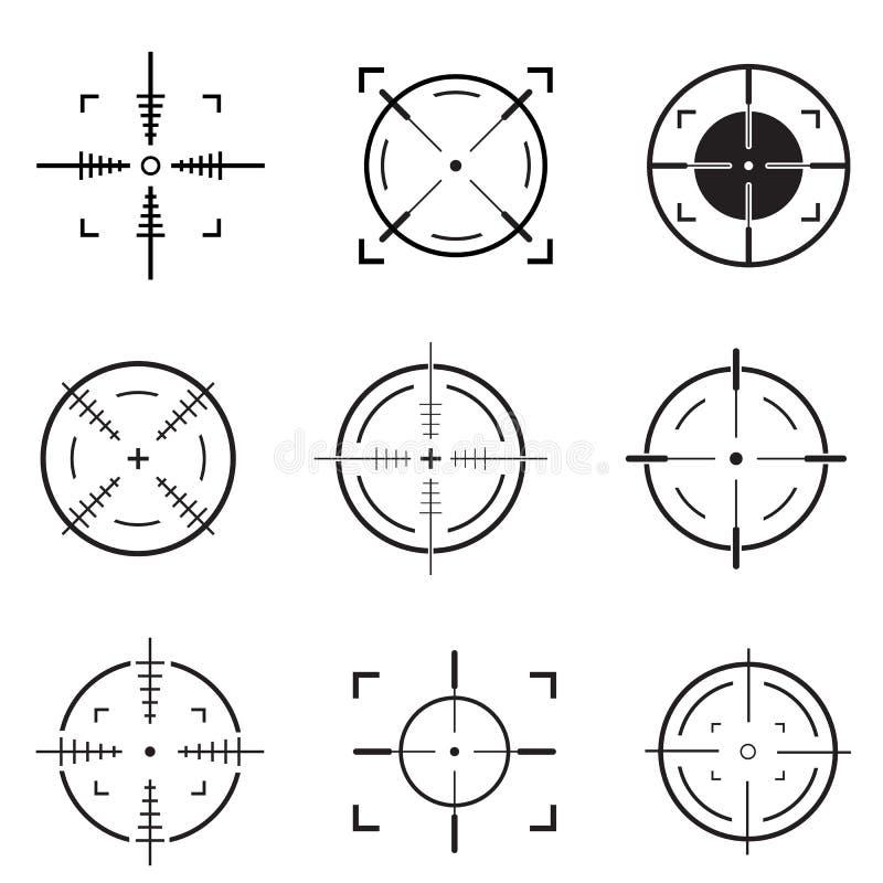 stellen Sie von der Zielikone ein vektor abbildung