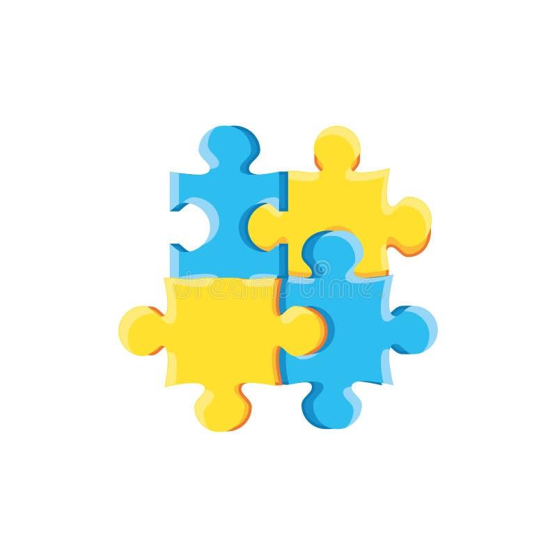 Stellen Sie von lokalisierter Ikone des Puzzlespiels Stücke ein vektor abbildung