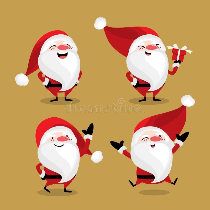 Stellen Sie von netter Santa Claus ein vektor abbildung