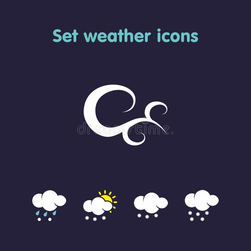 Stellen Sie Wetterikonen ein vektor abbildung