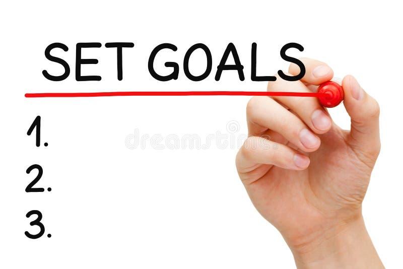 Stellen Sie Ziel-Listen-Konzept ein stockfoto