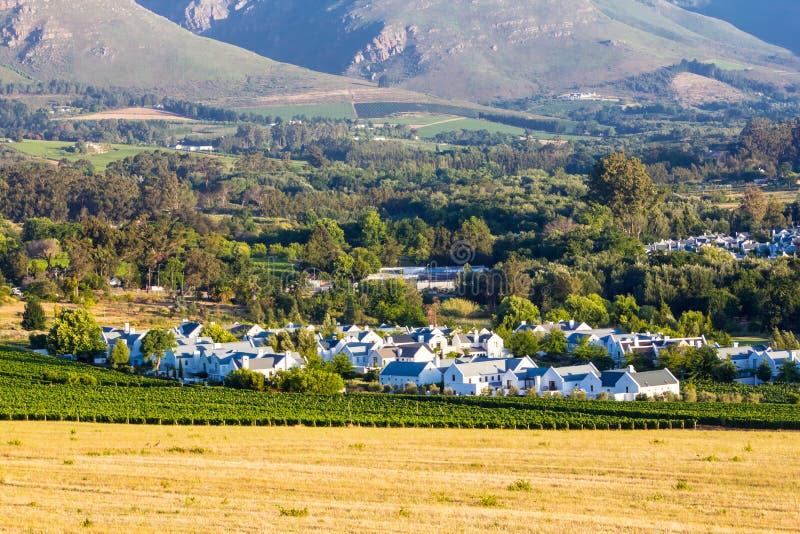 Stellenbosch Golf Estate. A view of a golf estate in Stellenbosch, Cape Winelands, Western Cape, South Africa stock photo