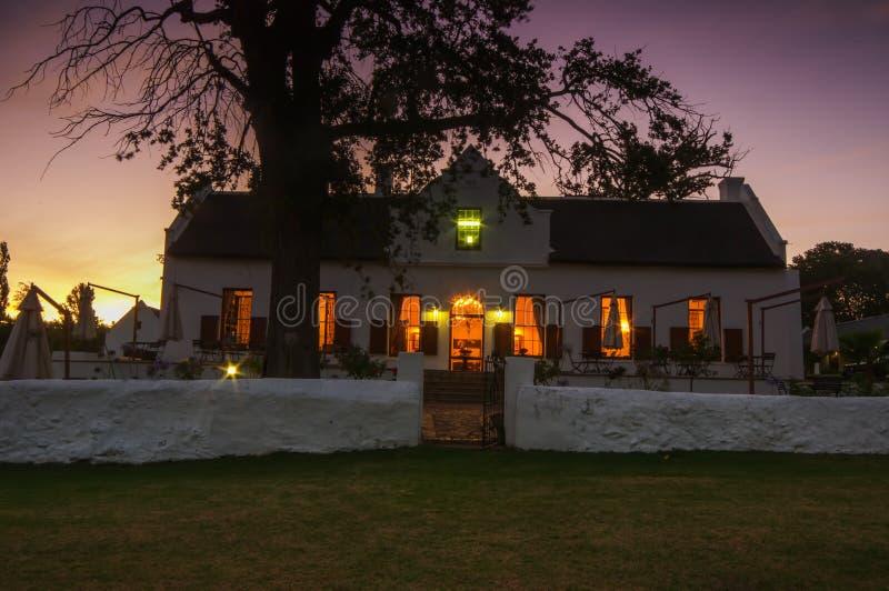 Stellenbosch serce wino narastający region w Południowym Afri zdjęcia stock