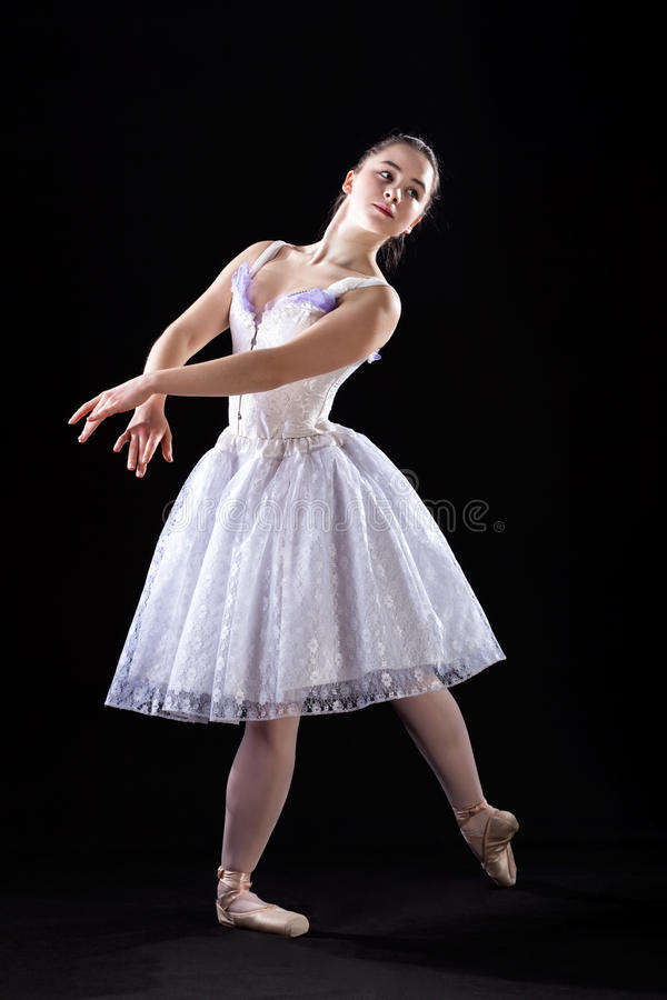 Stellende balletdanser royalty-vrije stock foto