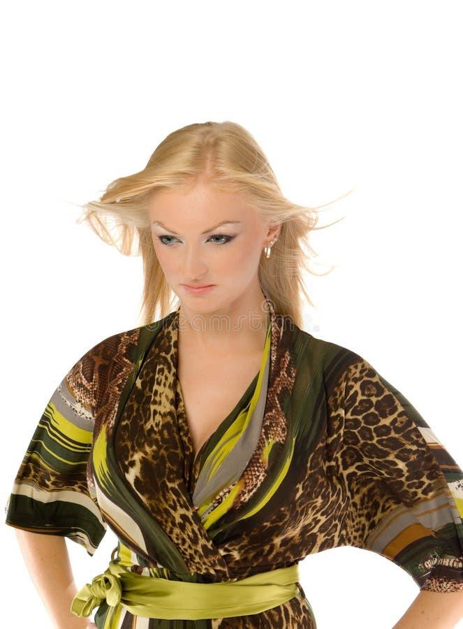 Stellende mooie geïsoleerded blonde royalty-vrije stock foto's