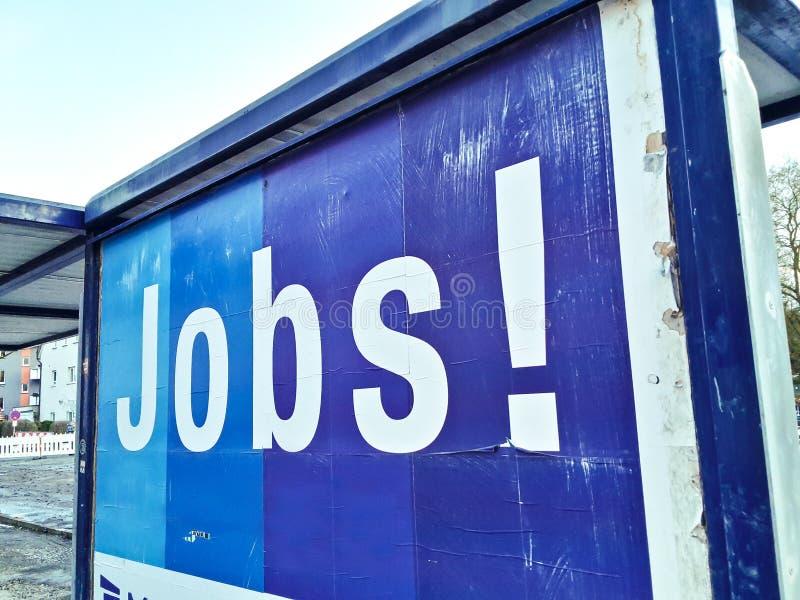 Stellengesuch-Werbungsplakat-Jobarbeitsarbeitskraft lizenzfreie stockbilder