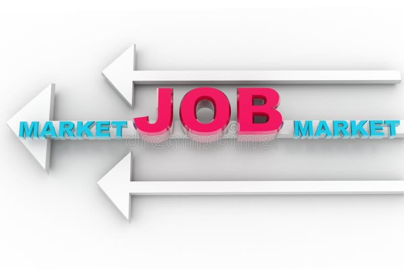 Stellenmarkt und Pfeil stock abbildung