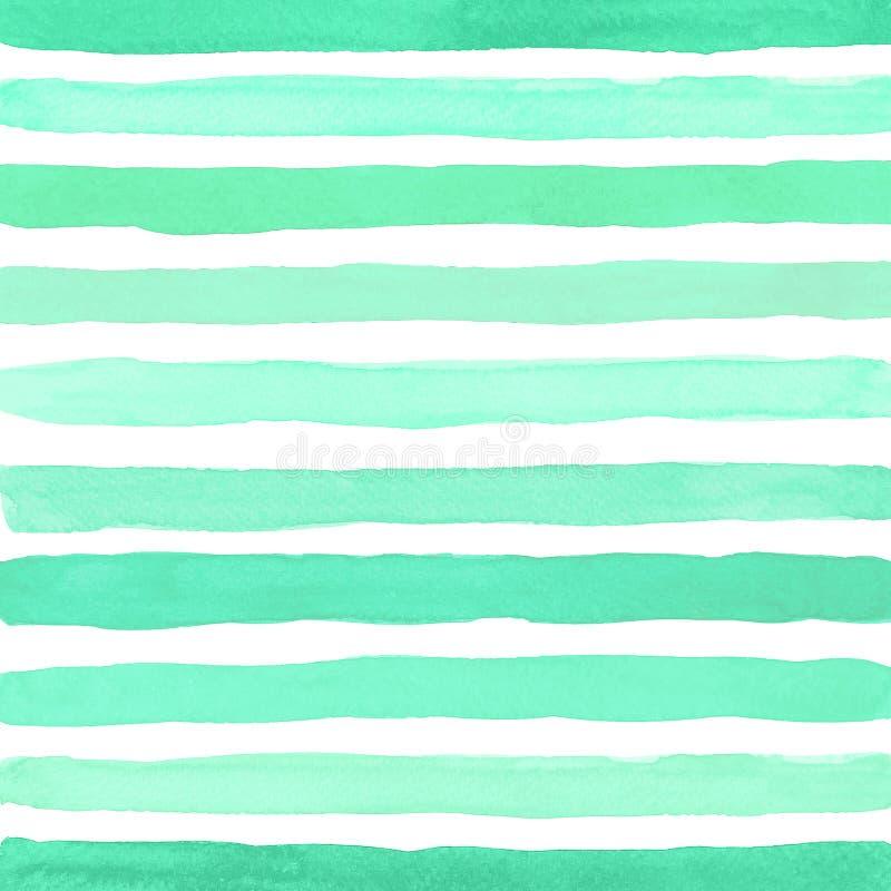 Stellingen van het artisticumpenseel van de waterkleur Trendy color Aqua Menthe royalty-vrije illustratie