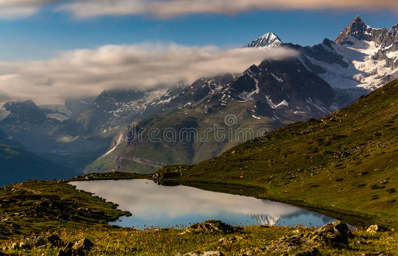 Stellissee Lake, Zermatt, Switzerland royalty free stock photography