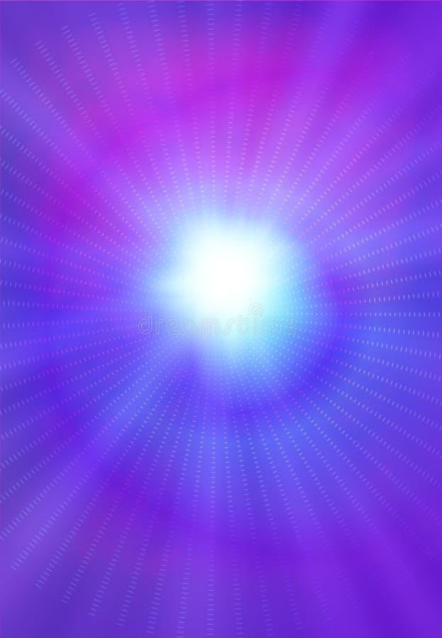 Stellt Lichtstrahlen an stock abbildung