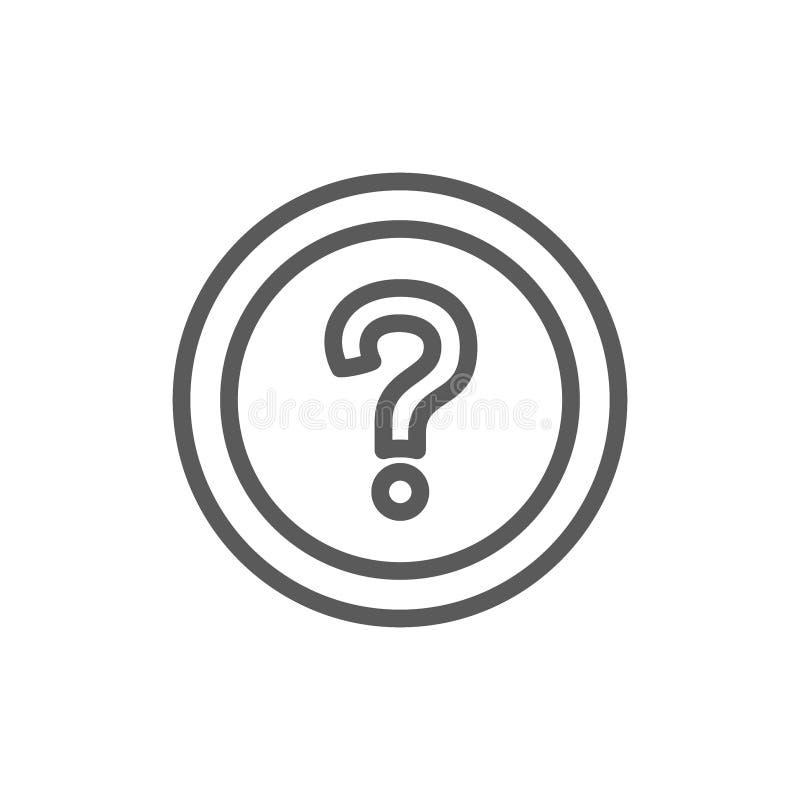 Stellte häufig Fragen, FAQ-Linie Ikone stock abbildung