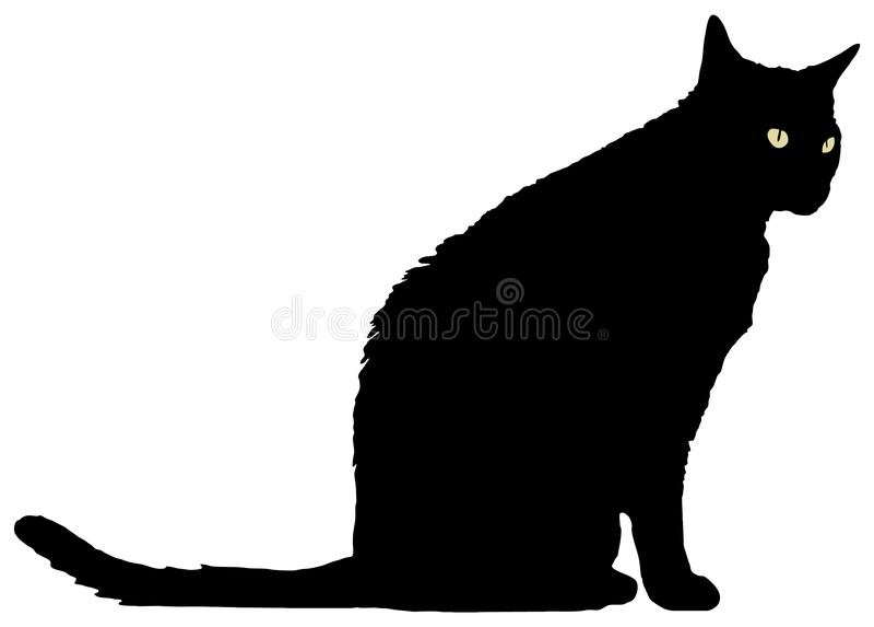 Stellung der schwarzen Katze lizenzfreies stockbild