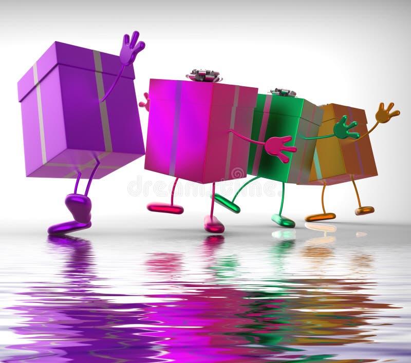 Stelt Vertoningen voor kopen Gift voor Speciale Gelegenheid royalty-vrije illustratie
