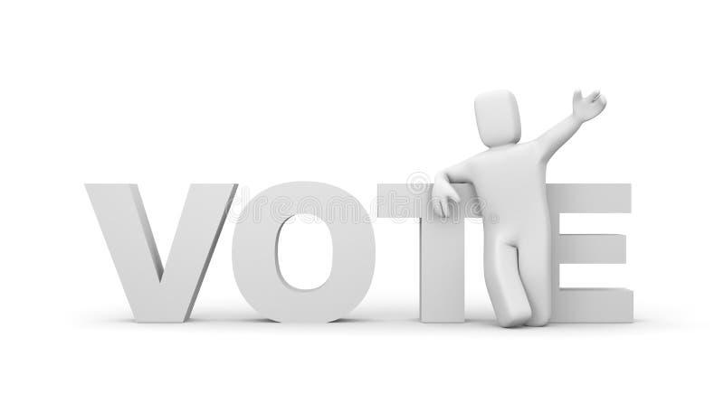Stem royalty-vrije illustratie