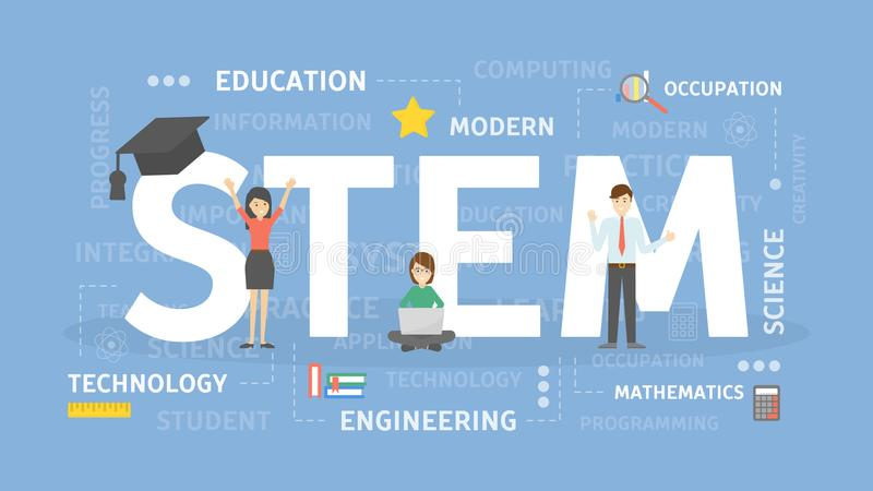 STEM concept illustration. vector illustration