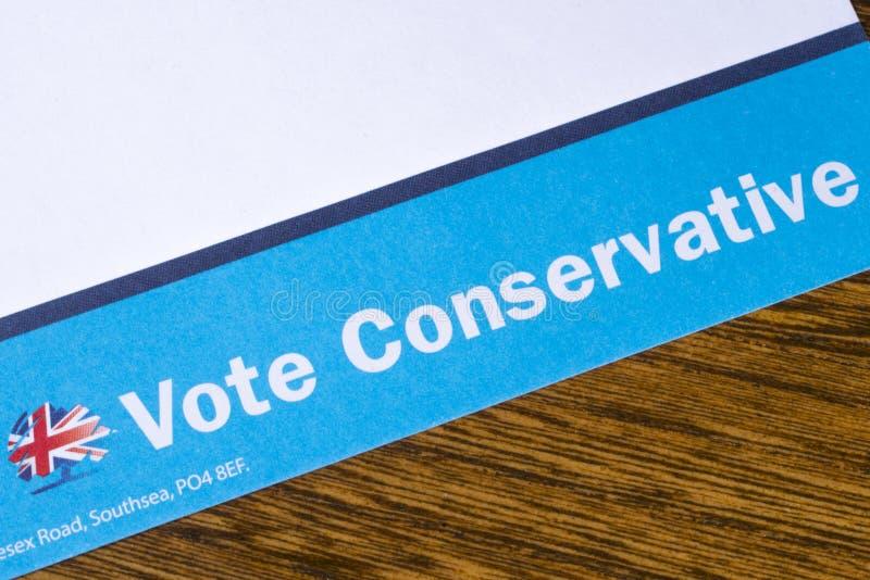 Stem Conservatief Pamflet royalty-vrije stock afbeelding