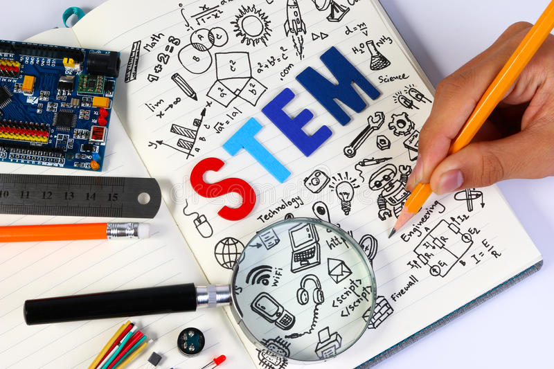 STEM education. Science Technology Engineering Mathematics. royalty free stock images