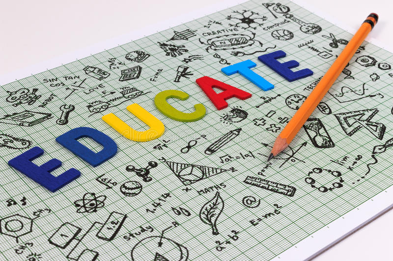 STEM education. Science Technology Engineering Mathematics. STEM concept with drawing background. Hand with pencil writing on education background stock photo