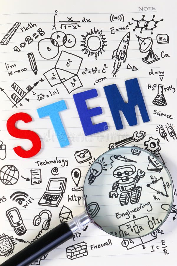 STEM education. Science Technology Engineering Mathematics. royalty free stock photos