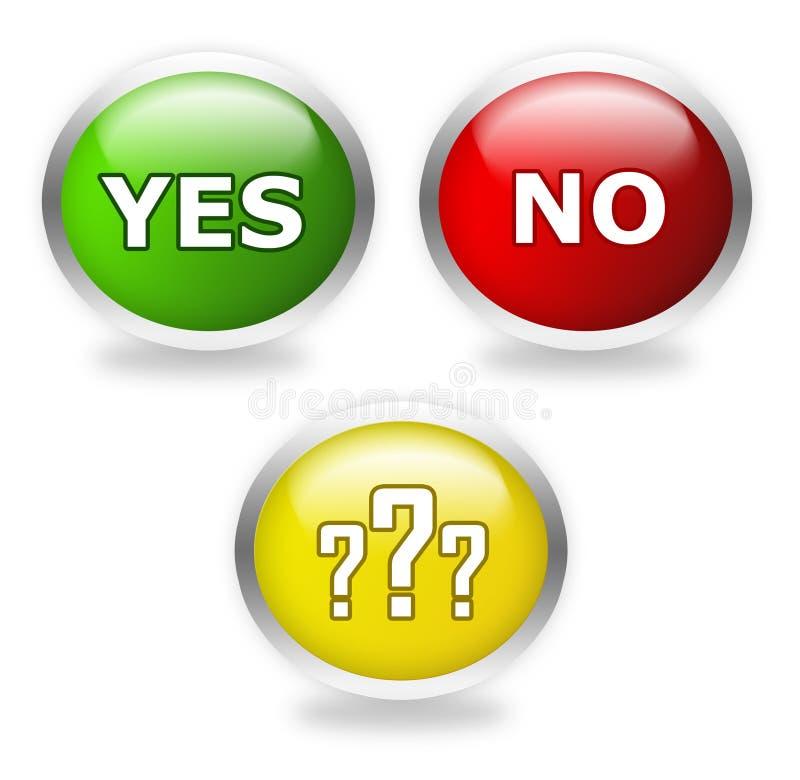 Stem nu: ja, misschien of nr vector illustratie