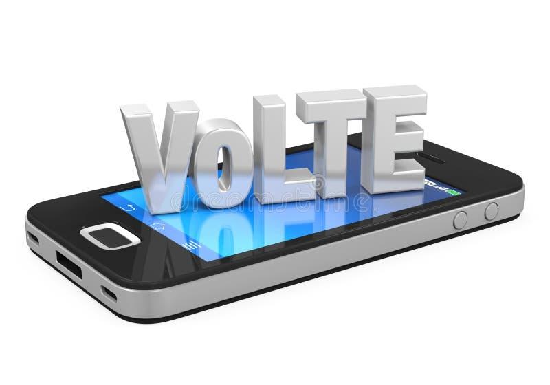Stem over LTE-Geïsoleerd Teken op Mobiele Telefoon vector illustratie
